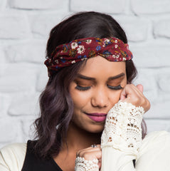 Boho Knotted Headwrap | Prints, accessories & boot socks, Peekaboo Chic | Modest Layering Apparel for women