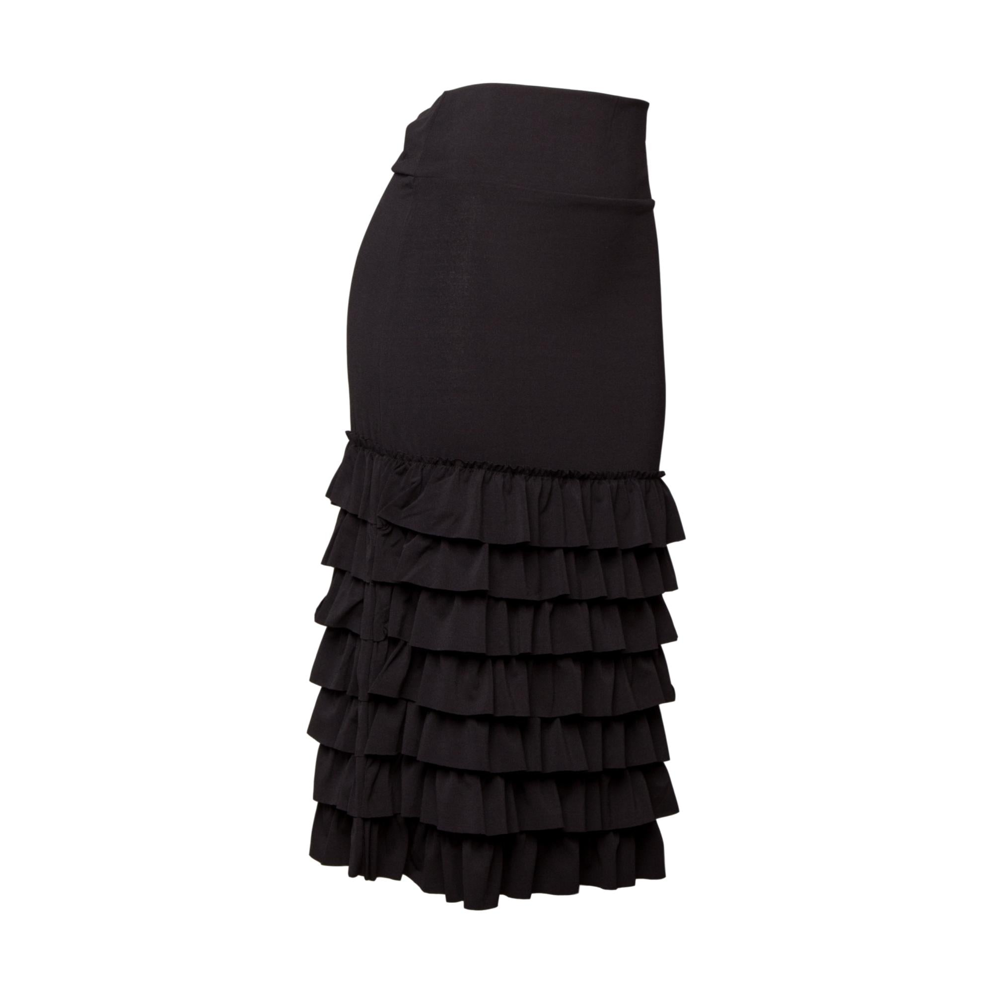 Bring on the Frill Half Slip | ultra long | black, skirt extenders, Peekaboo Chic | Modest Layering Apparel for women
