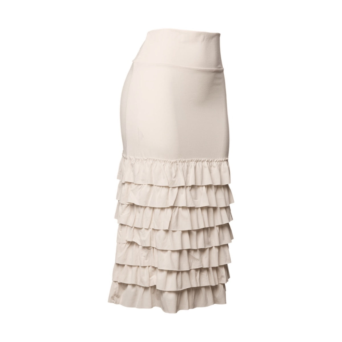 Bring on the Frill Half Slip | ultra long | cream