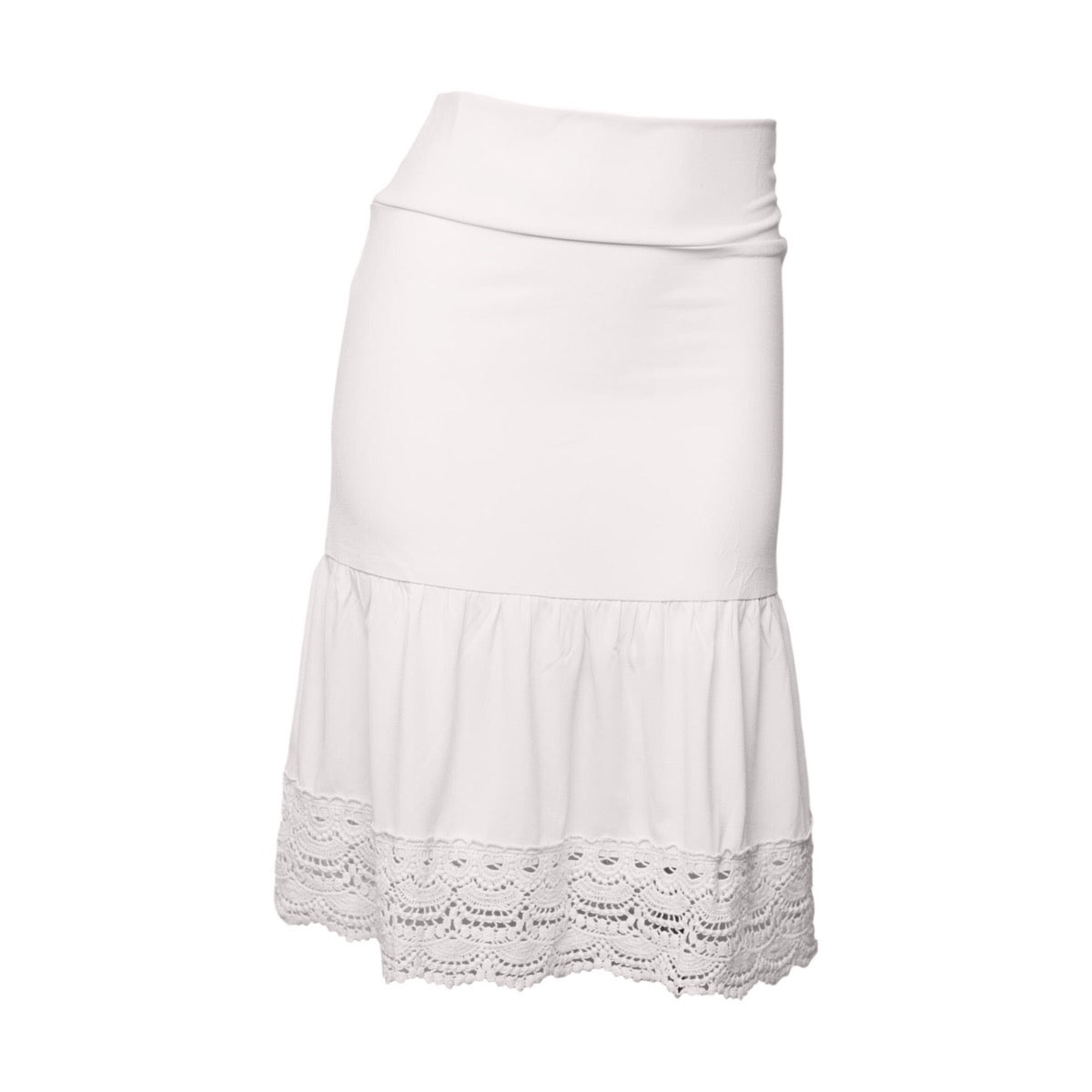 Desert Rose Half Slip | bleach white, skirt extenders, Peekaboo Chic | Modest Layering Apparel for women