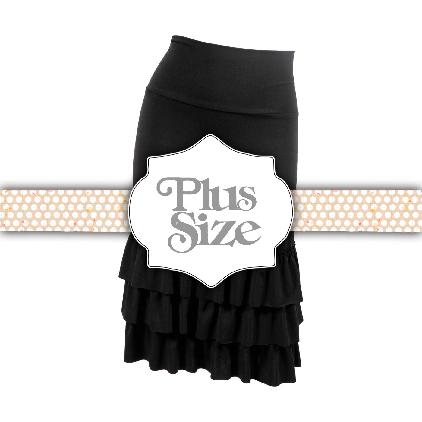 1080827e17f Black Ruffle Skirt Extender - Plus Size