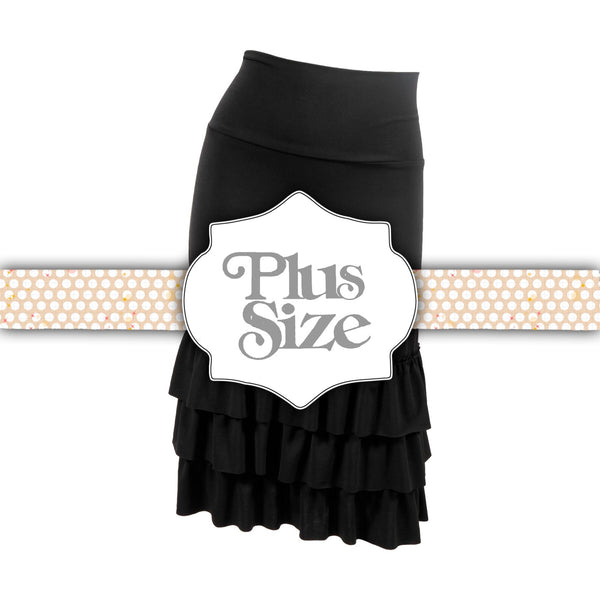 Bring on the Frill Layering Skirt | PLUS | black