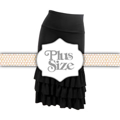 Bring on the Frill Layering Skirt | PLUS | black, skirt extenders, Peekaboo Chic | Modest Layering Apparel for women