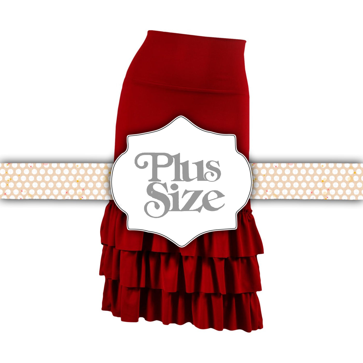 Bring on the Frill Layering Skirt | PLUS | burgundy