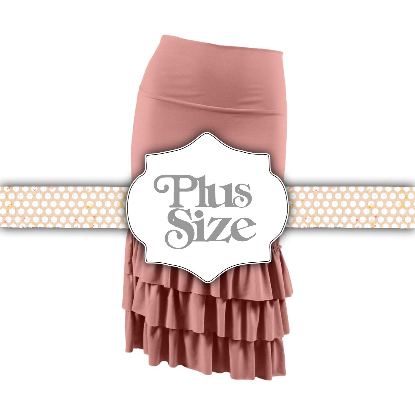 Bring on the Frill Layering Skirt | PLUS | dusty rose