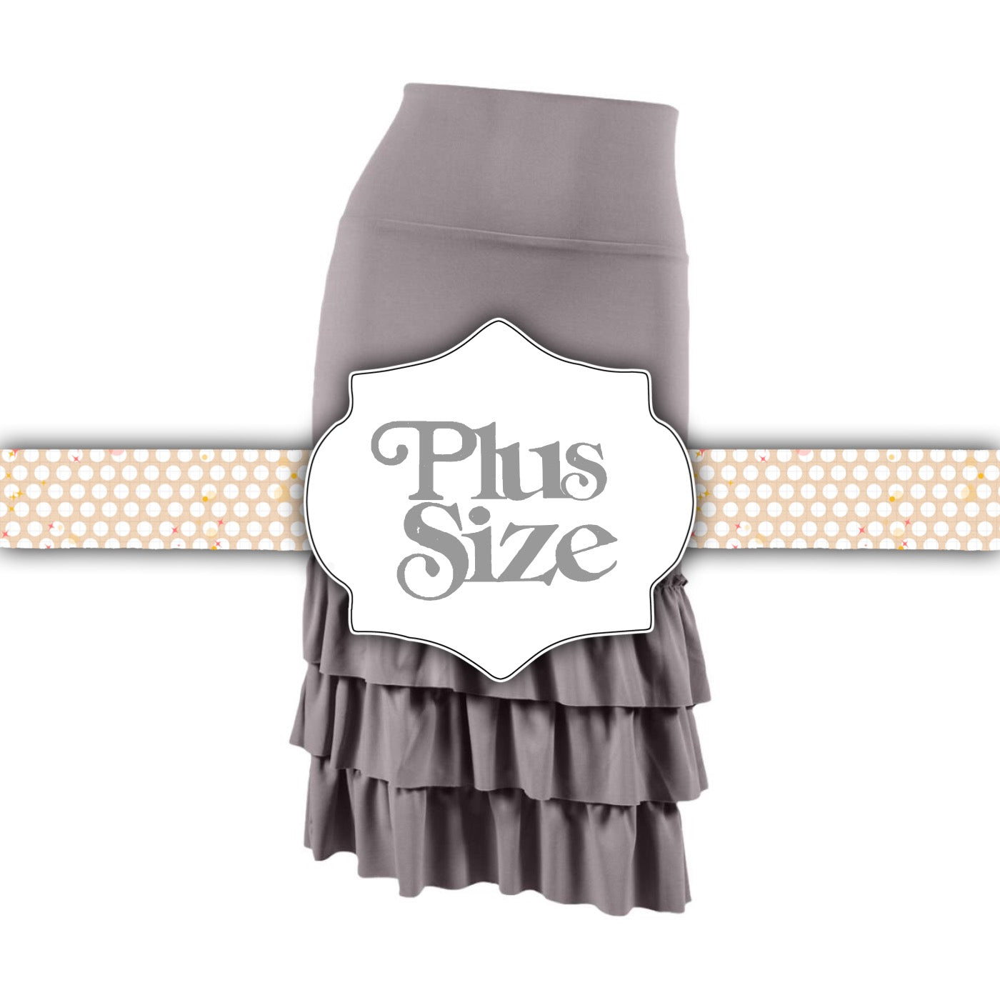 Bring on the Frill Layering Skirt | PLUS | gray, skirt extenders, Peekaboo Chic | Modest Layering Apparel for women