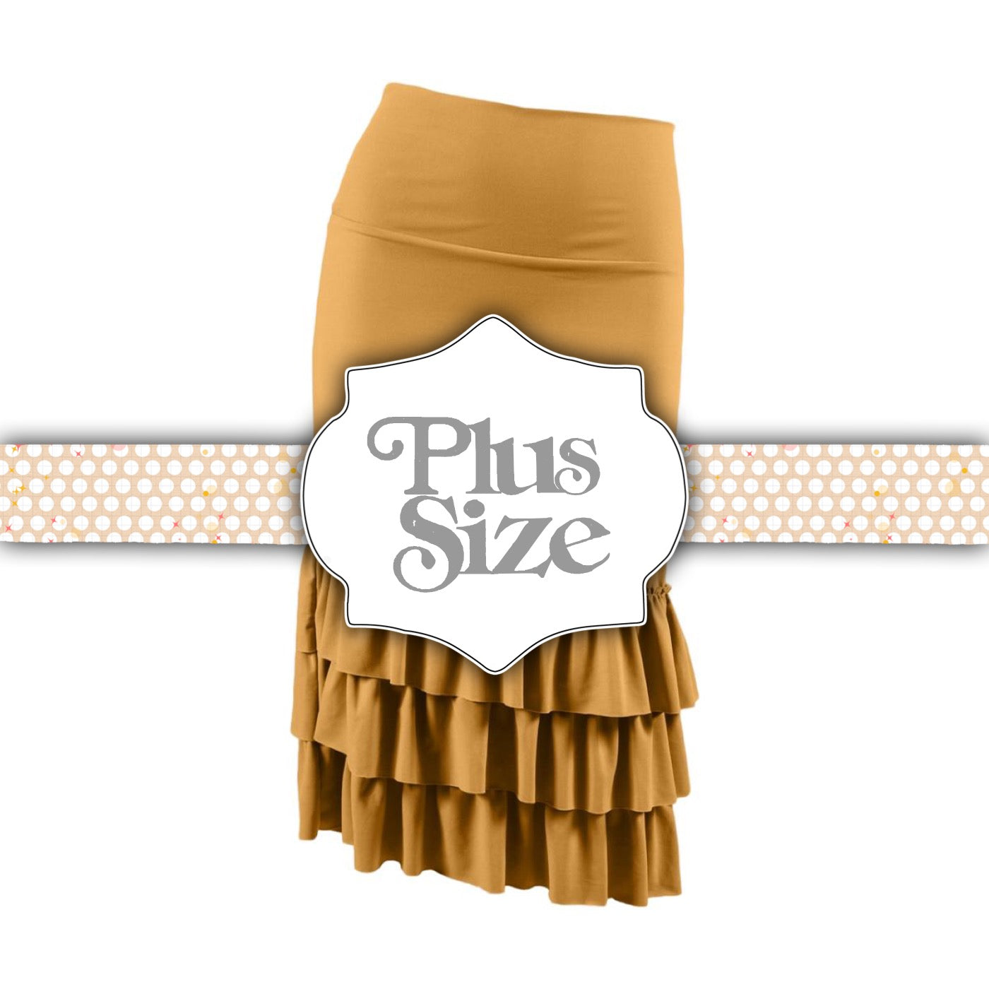 Bring on the Frill Layering Skirt | PLUS | mustard, skirt extenders, Peekaboo Chic | Modest Layering Apparel for women