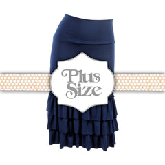 Bring on the Frill Layering Skirt | PLUS | navy, skirt extenders, Peekaboo Chic | Modest Layering Apparel for women