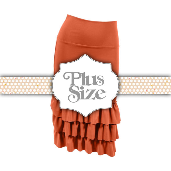 Bring on the Frill Layering Skirt | PLUS | rust