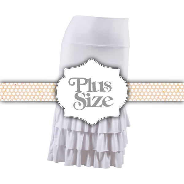 Bring on the Frill Layering Skirt | PLUS | bleach white