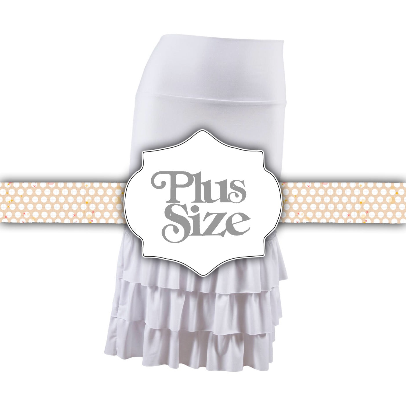 Bring on the Frill Layering Skirt | PLUS | ivory white
