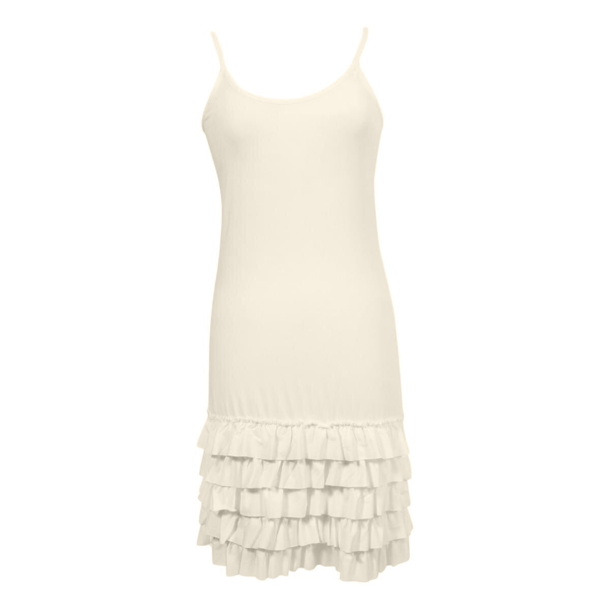 Delicious Frilly Strap Slip Dress | cream, strap slips & dresses, Peekaboo Chic | Modest Layering Apparel for women