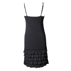Delicious Frilly Strap Slip Dress | black, strap slips & dresses, Peekaboo Chic | Modest Layering Apparel for women