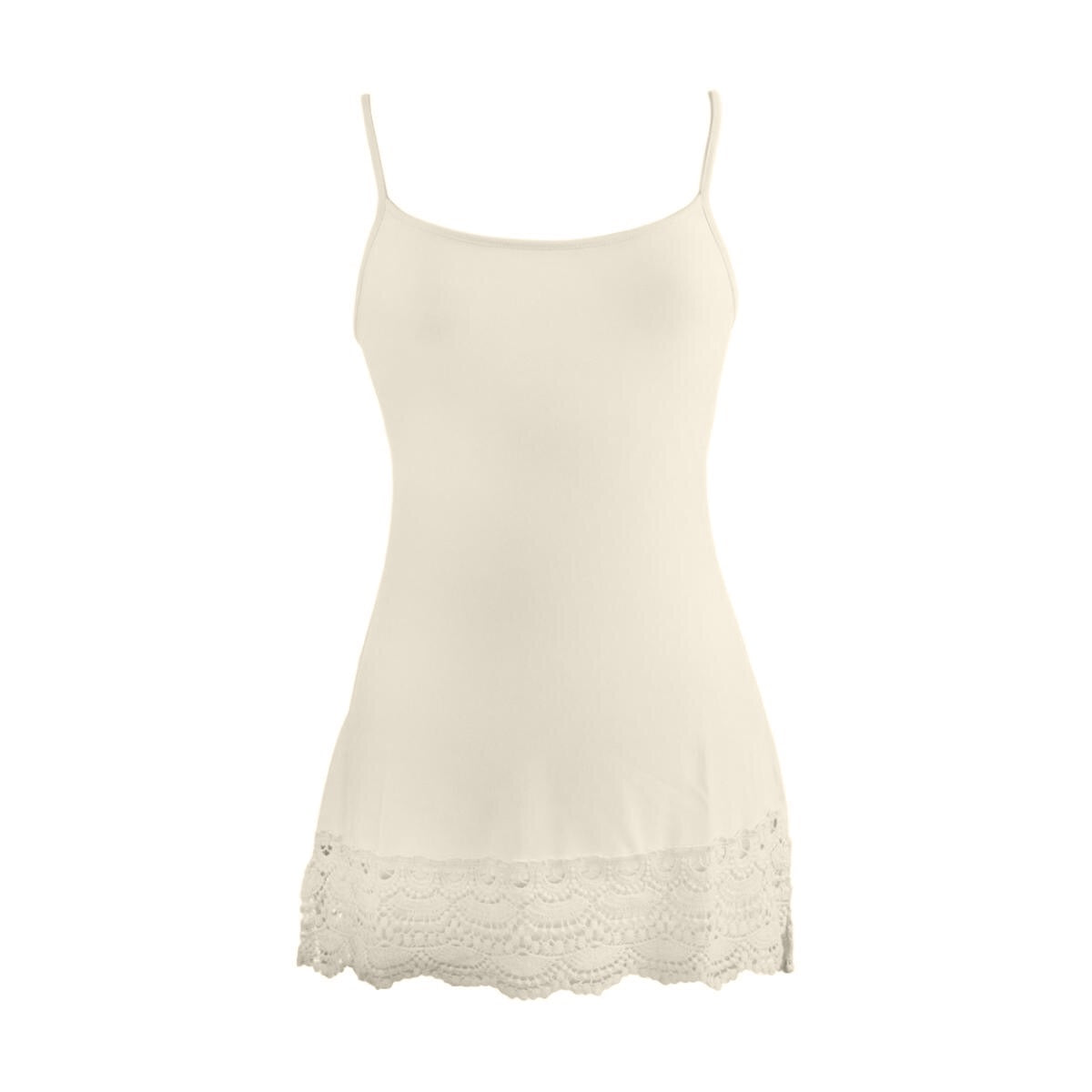 Foxglove Crochet Trim Top Extender | cream