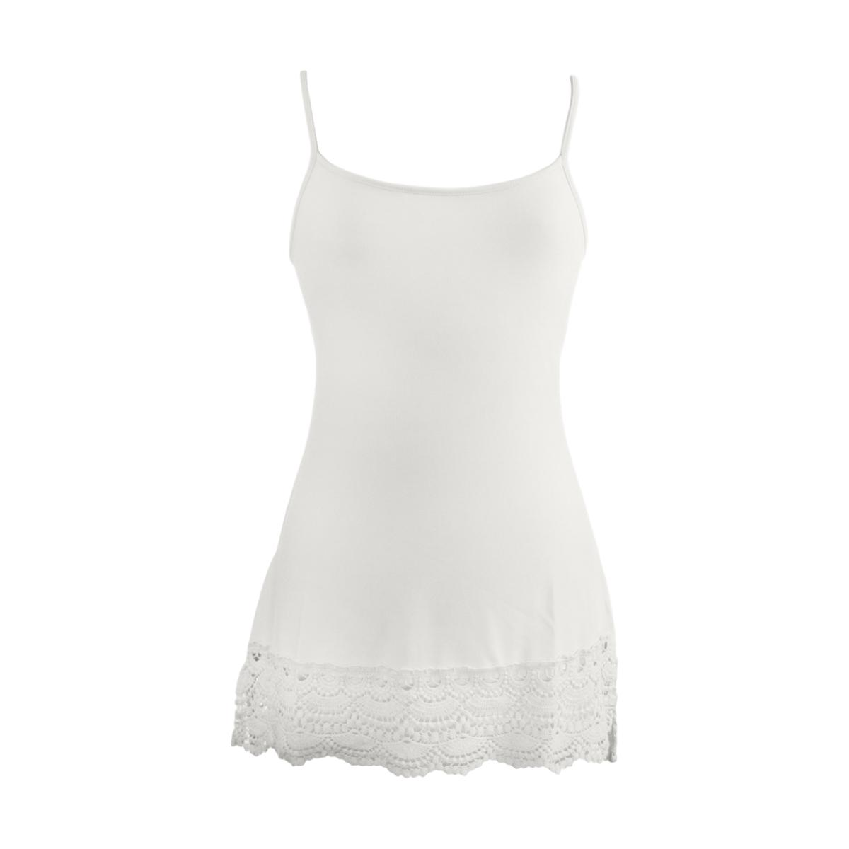 Foxglove Crochet Trim Top Extender | bleach white