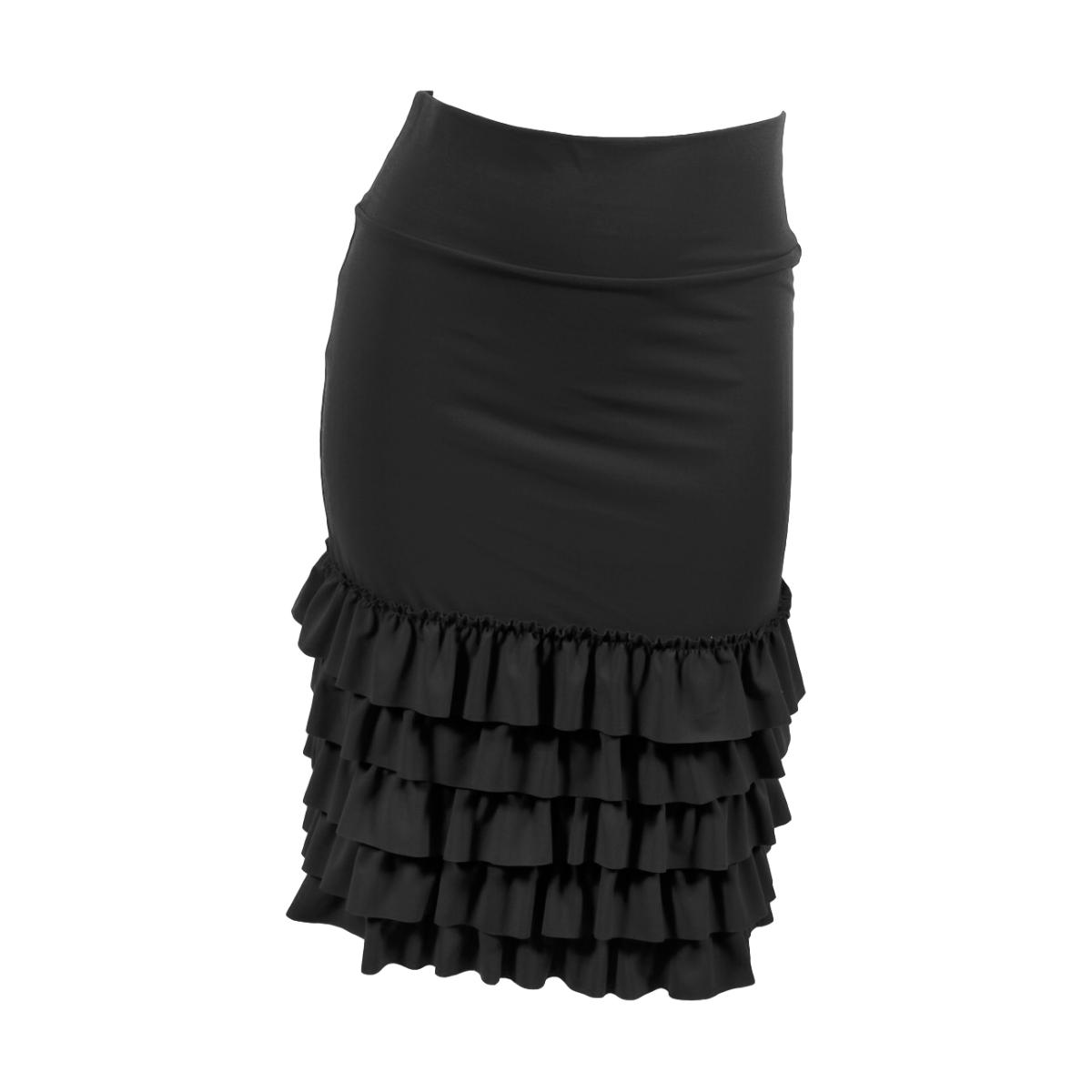Bring on the Frill Layering Skirt | black, skirt extenders, Peekaboo Chic | Modest Layering Apparel for women