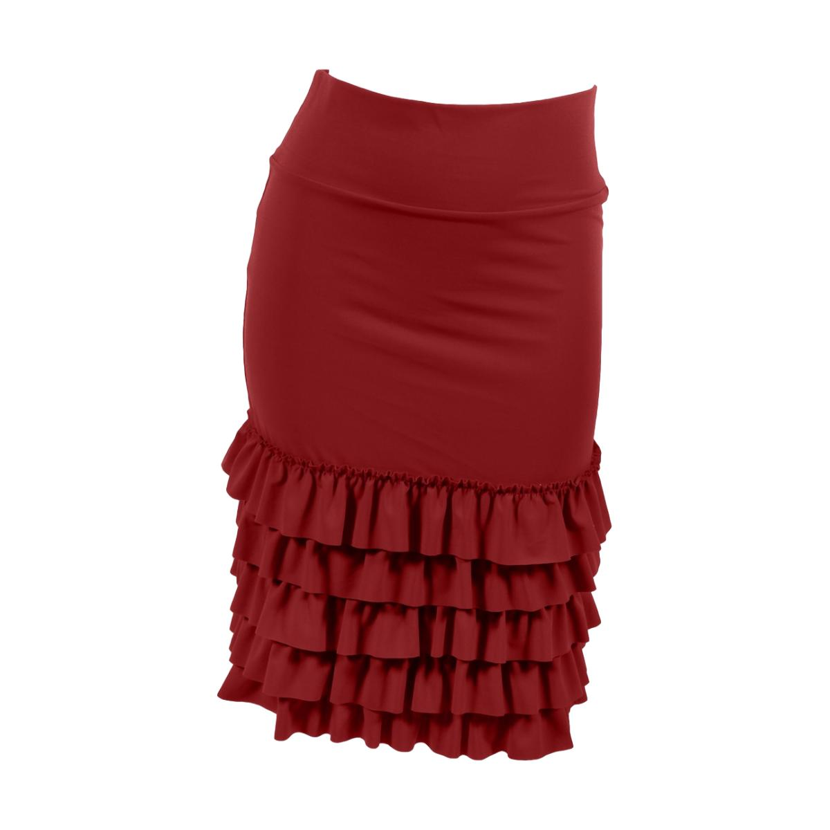 Bring on the Frill Layering Skirt | burgundy, skirt extenders, Peekaboo Chic | Modest Layering Apparel for women