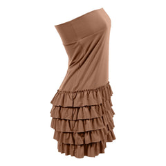 Bring on the Frill Layering Skirt | camel, skirt extenders, Peekaboo Chic | Modest Layering Apparel for women