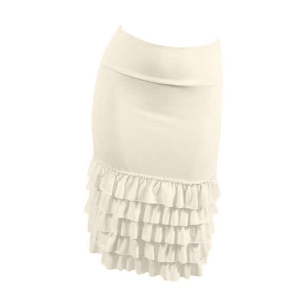 Bring on the Frill Layering Skirt | cream