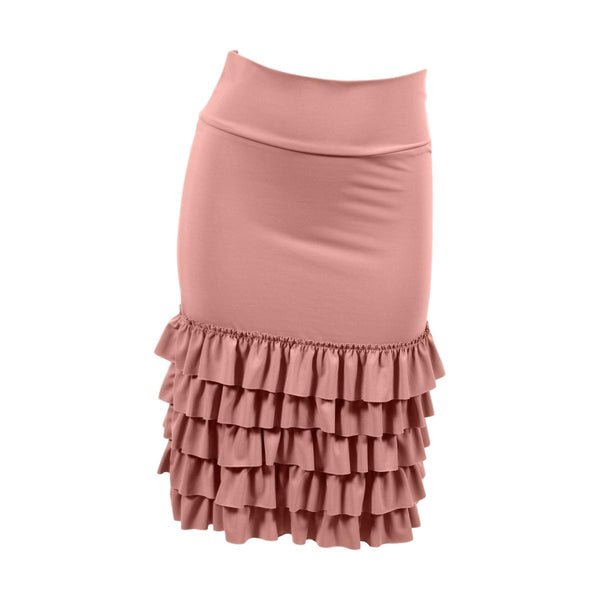 Bring on the Frill Layering Skirt | dusty rose