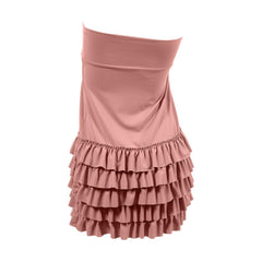 Bring on the Frill Layering Skirt | dusty rose, skirt extenders, Peekaboo Chic | Modest Layering Apparel for women