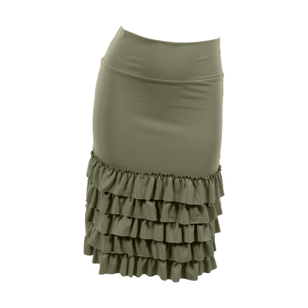 Bring on the Frill Layering Skirt | moss