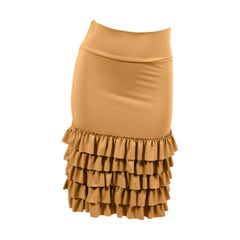 Bring on the Frill Layering Skirt | mustard, skirt extenders, Peekaboo Chic | Modest Layering Apparel for women