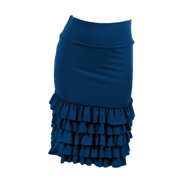 Bring on the Frill Layering Skirt | navy