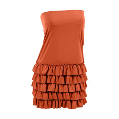 Bring on the Frill Layering Skirt | rust, skirt extenders, Peekaboo Chic | Modest Layering Apparel for women