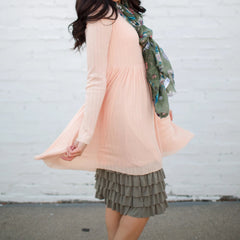 Bring on the Frill Layering Skirt | moss, skirt extenders, Peekaboo Chic | Modest Layering Apparel for women