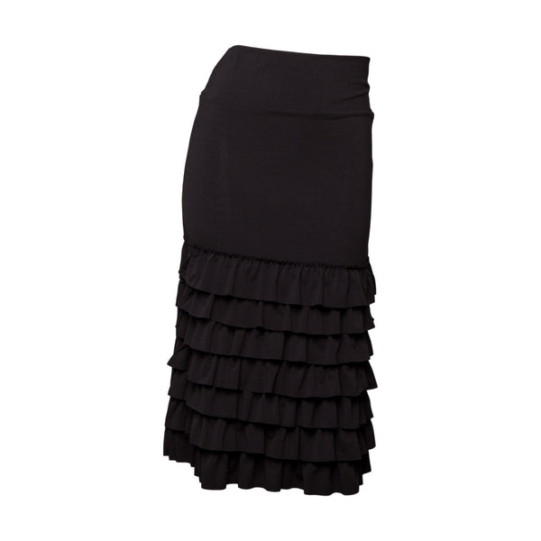 Bring on the Frill Half Slip | ultra long | black