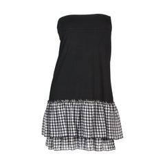 Cottage Check Half Slip | black, skirt extenders, Peekaboo Chic | Modest Layering Apparel for women