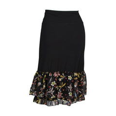 Magnolia Floral Print Half Slip | black, skirt extenders, Peekaboo Chic | Modest Layering Apparel for women