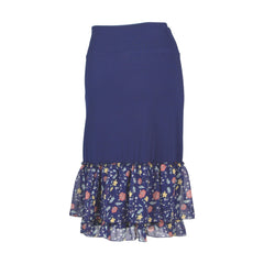 Magnolia Petite Print Half Slip | navy, skirt extenders, Peekaboo Chic | Modest Layering Apparel for women