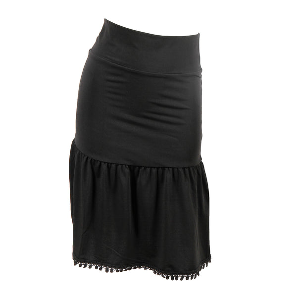 Poppy Half Slip | black