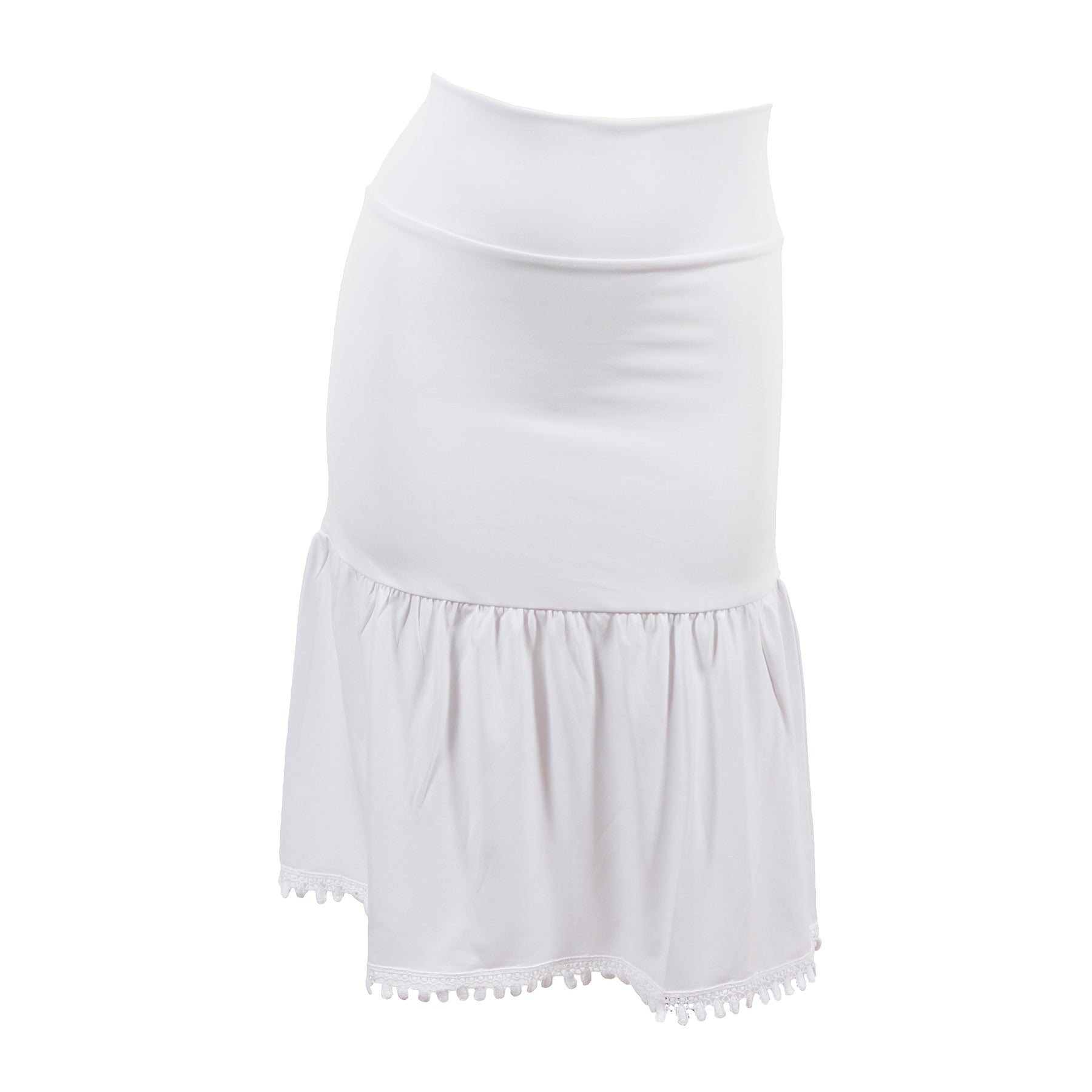Poppy Half Slip | white