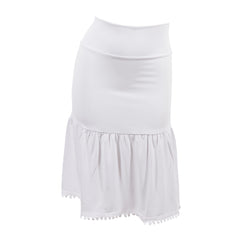 White poppy half slip