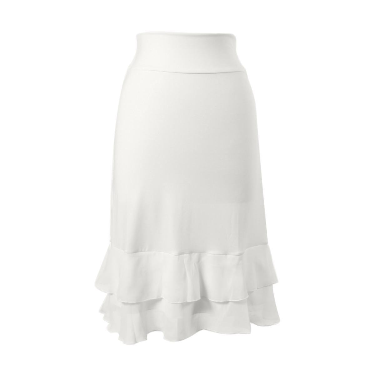 Iris Chiffon Layering Skirt | white, skirt extenders, Peekaboo Chic | Modest Layering Apparel for women