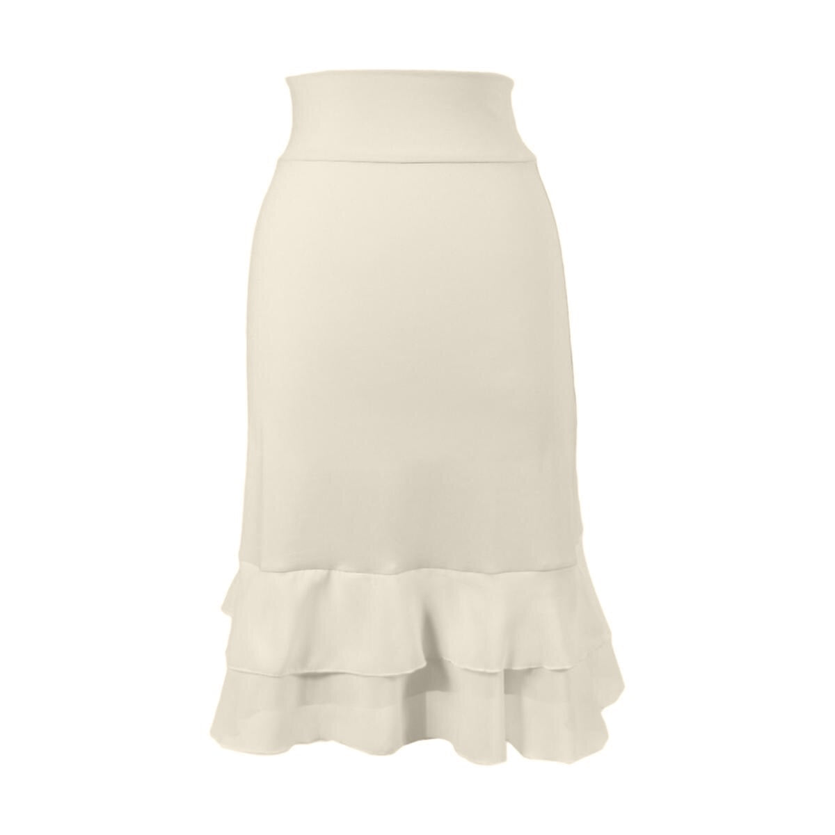 Iris Chiffon Layering Skirt | cream, skirt extenders, Peekaboo Chic | Modest Layering Apparel for women