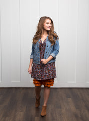 Bring on the Frill Layering Skirt | rust