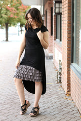 Bring on the Frill Layering Skirt | gray, skirt extenders, Peekaboo Chic | Modest Layering Apparel for women