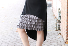 Bring on the Frill Layering Skirt | Gray
