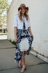 Bring on the Frill Layering Skirt | White