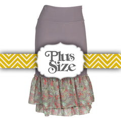Magnolia Petite Print Half Slip | gray, skirt extenders, Peekaboo Chic | Modest Layering Apparel for women
