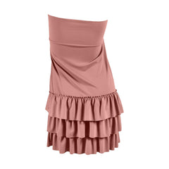 Bring on the Frill Layering Skirt | PLUS | dusty rose, skirt extenders, Peekaboo Chic | Modest Layering Apparel for women