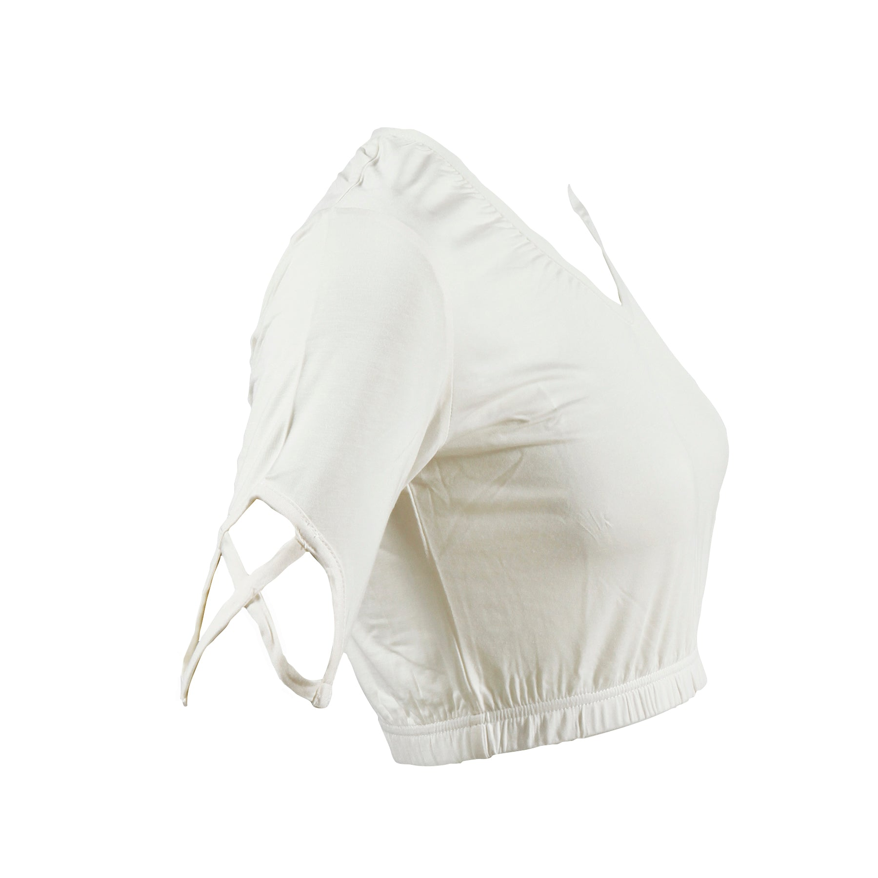Criss Cross Shimmy Shirt | ivory white