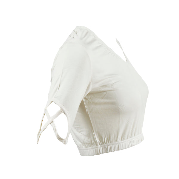 Criss Cross Shimmy Shirt | ivory
