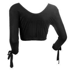 Tie Sleeve Shimmy Shirt | black, top extenders & shimmy shirts, Peekaboo Chic | Modest Layering Apparel for women