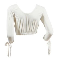 Tie Sleeve Shimmy Shirt | ivory, top extenders & shimmy shirts, Peekaboo Chic | Modest Layering Apparel for women