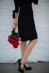 Poppy Half Slip | black, skirt extenders, Peekaboo Chic | Modest Layering Apparel for women